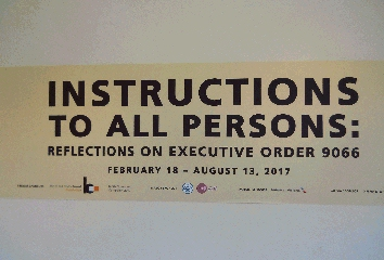 Poster declaring Executive Order 9066