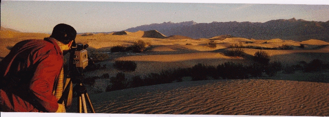 Shooting the sand dunes of Daeth Valley, California