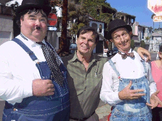 Roger with Laurel & Hardy lookalikes
