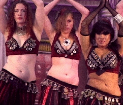 Belly dancers aboard the Queen Mary
