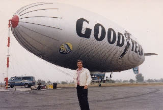 Going up in the Goodyear Blimp