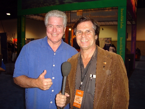 Huell Howser and Rog during LA Travel Show