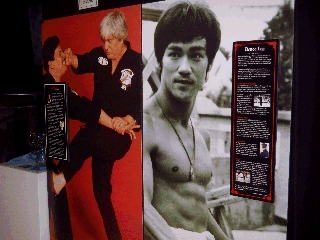 Pictures from the Martial Arts Museum in Burbank