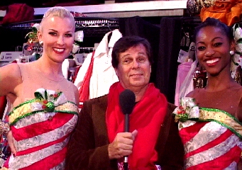 surrounded by the Rockettes!