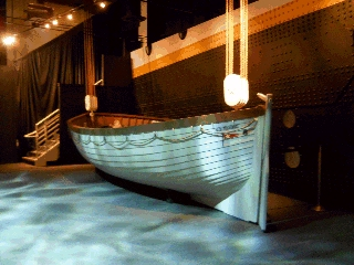 Lifeboard prop form feature film Titanic
